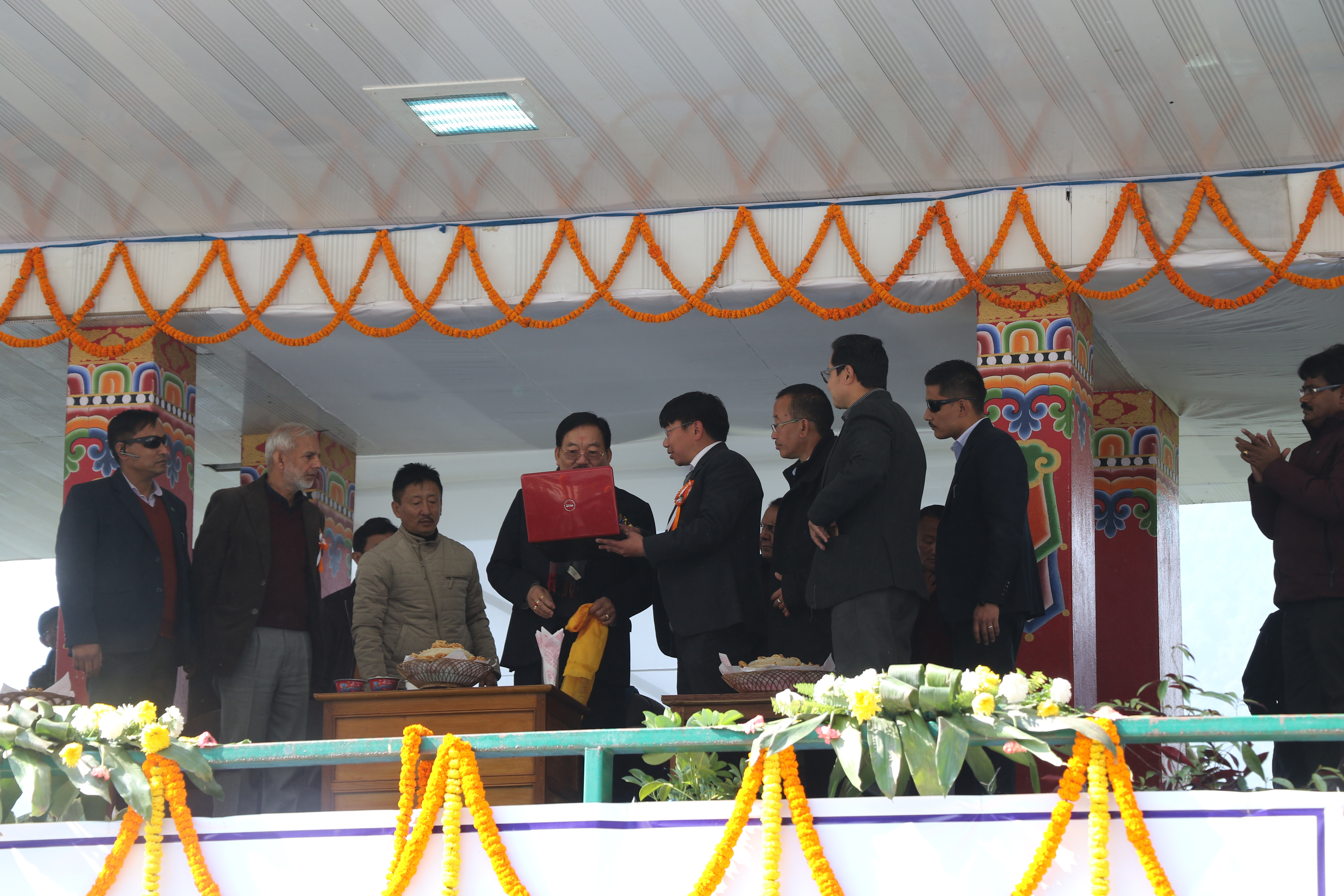Hon'ble CM of Sikkim inaugurating website of North District Administration designed on S3WaaS platform @ 20/01/2019 at Mangan North Sikkim