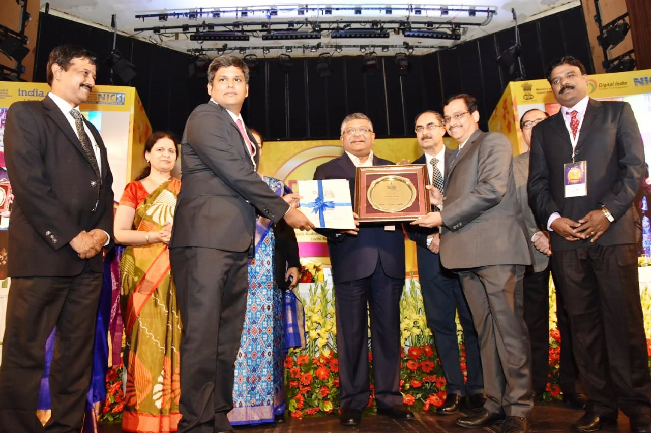 Vellore District received Gold Award Under Web Ratna District Category, Digital India Awards