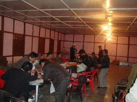 Polling Personnel reporting after voting