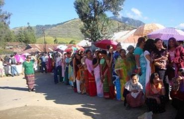 In Queue at polling station