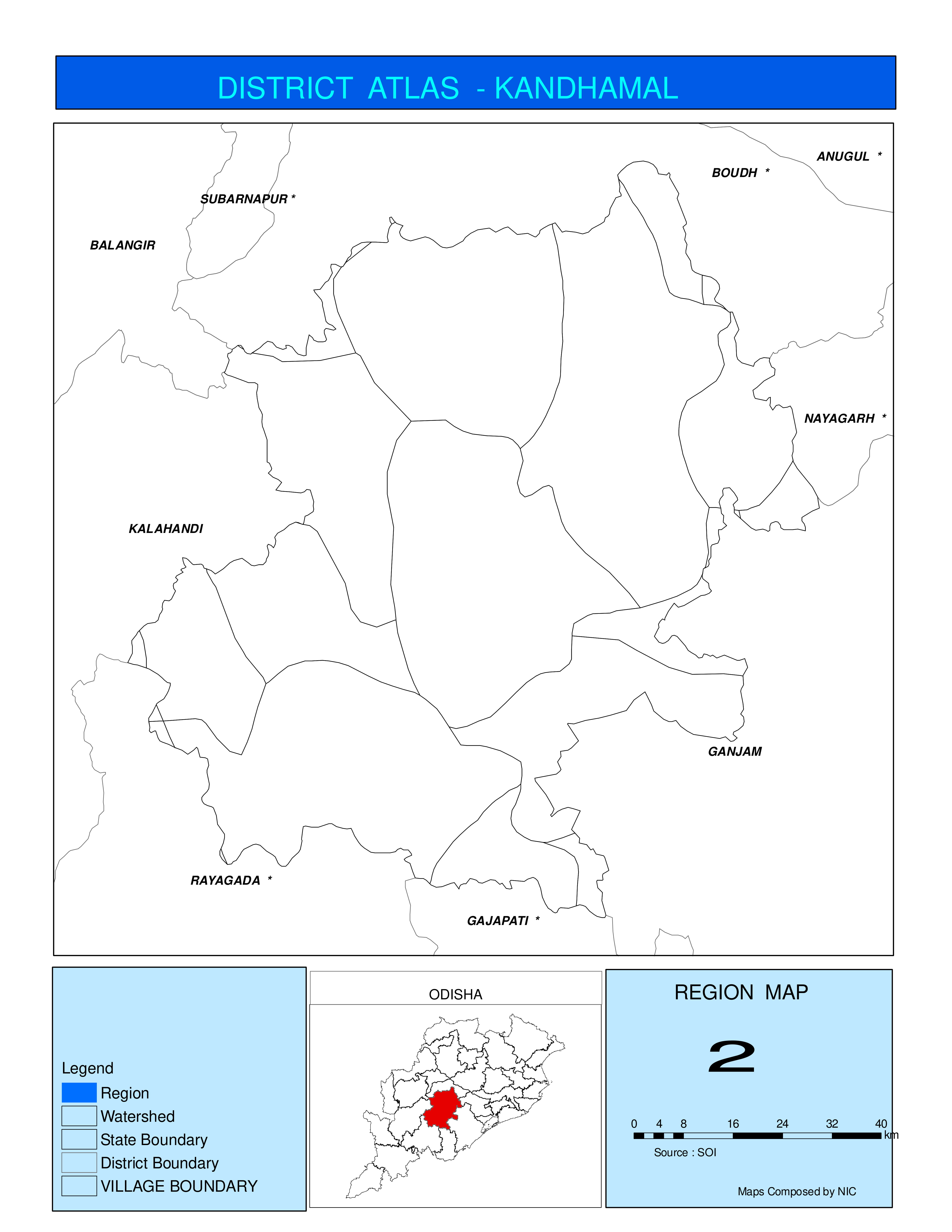Map of District | Kandhamal District, Government of Odisha