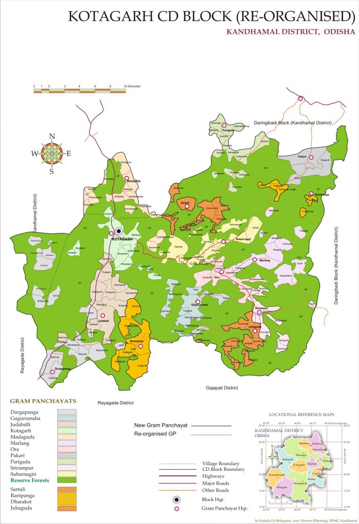 Map of District | Kandhamal District, Government of Odisha | India