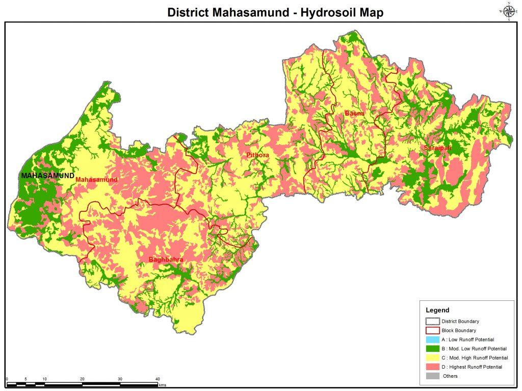 जिला का हाइड्रो साइल मानचित्र