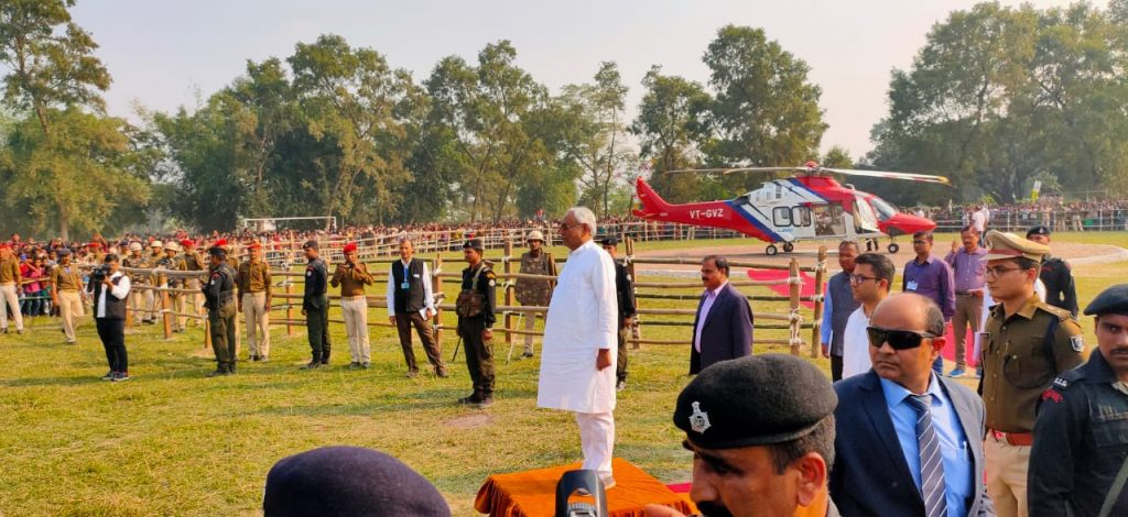 Visit of CM at Tikapatti Rupouli Purnea
