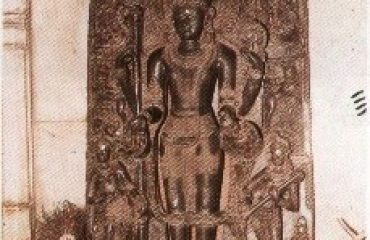 Lord Vishnu idol in Vishnu Temple