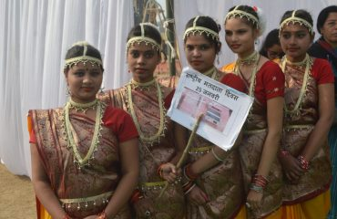 Girl Students educationg voters through cultural Programmes