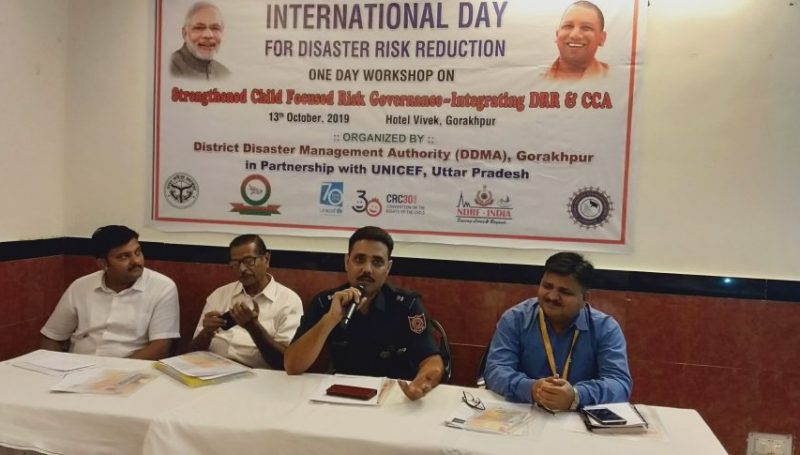 One Day Workshop organized with the title as 'Strengthened Child Focused Risk Governance- Integrating DRR & CCA' on International Disaster Risk Reduction Day -4