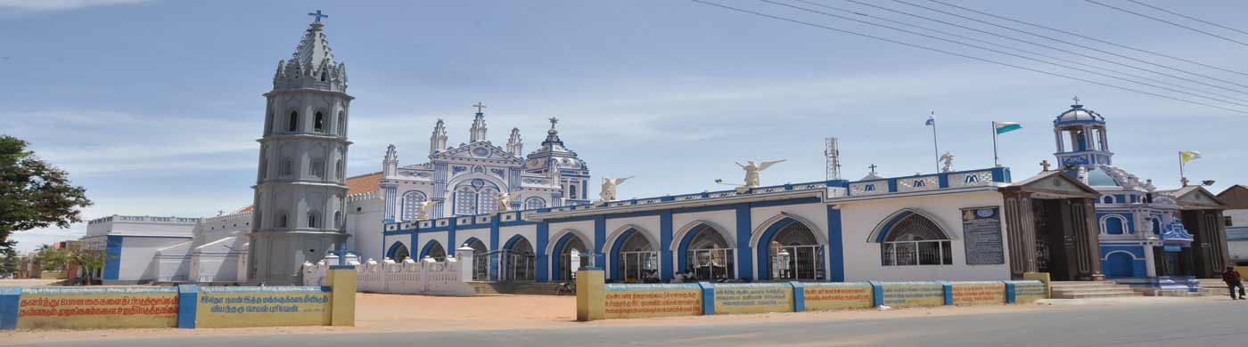 Our Lady of Snows Shrine Basilica (Panimayamatha) church at Thoothukudi