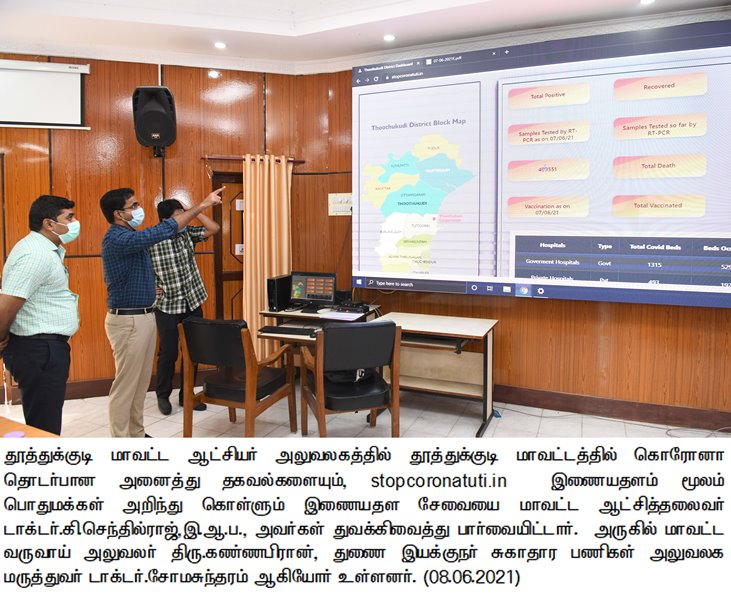 P.R#26 Collector inaugurated the website regarding complete details about corona situation in Thoothukudi district