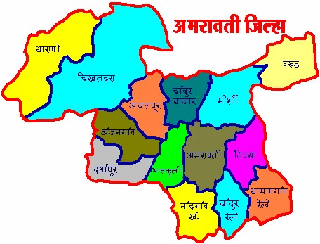 Amravati District Map