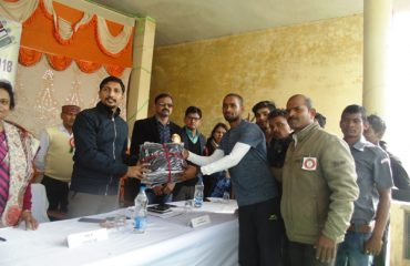 Awarding to team at voter awareness day 25/01/2018