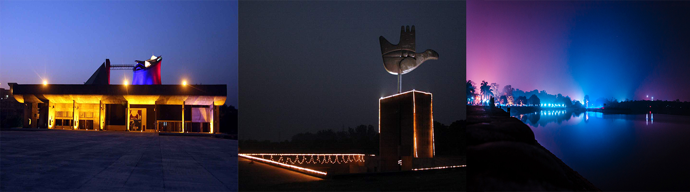 Chandigarh night view
