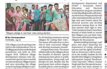Villagers pledge to cast their votes during election