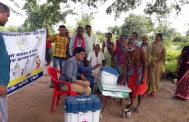 Voter awareness campaign at Village