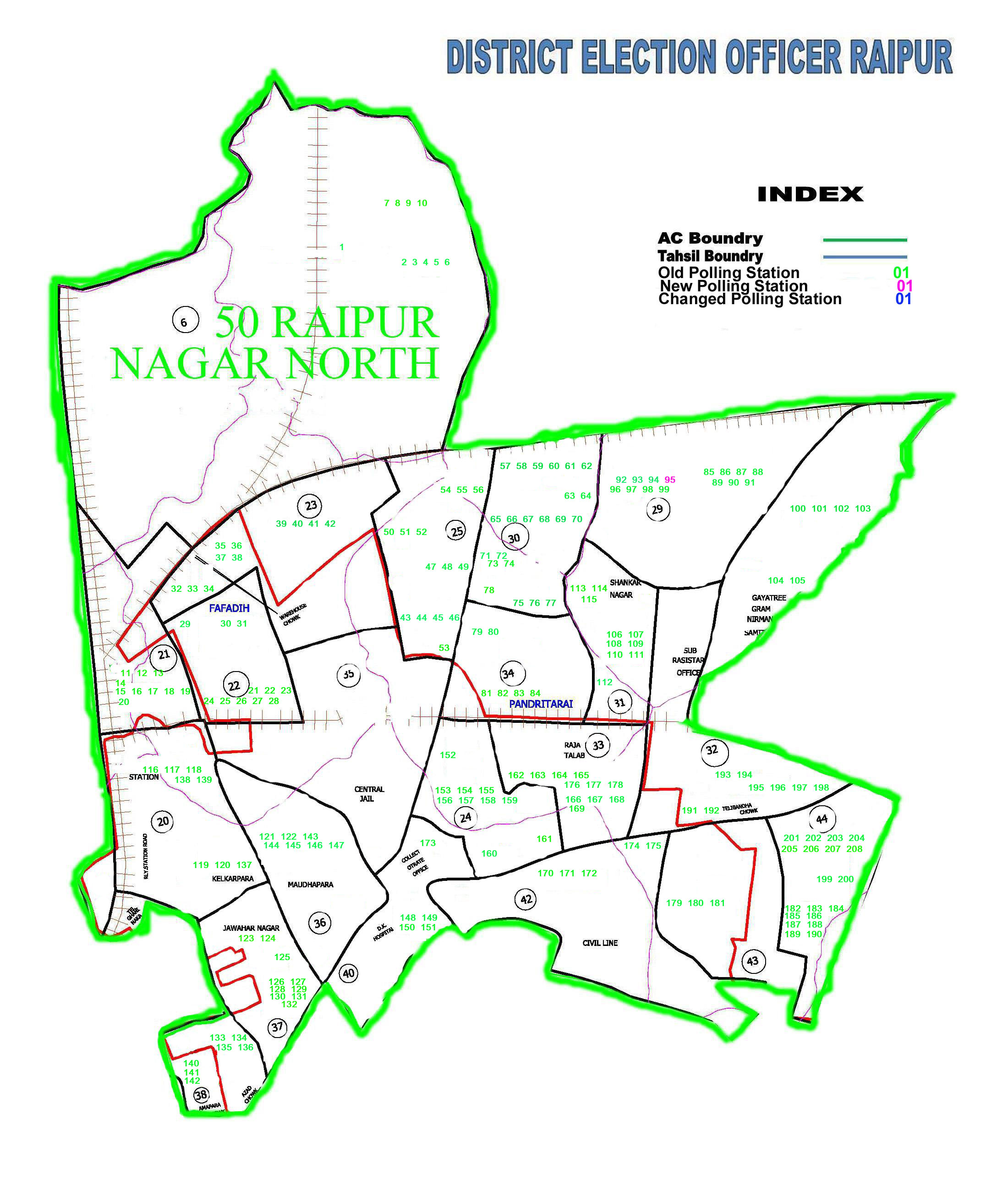 Assembly Constituency Map | District Raipur ,Government of