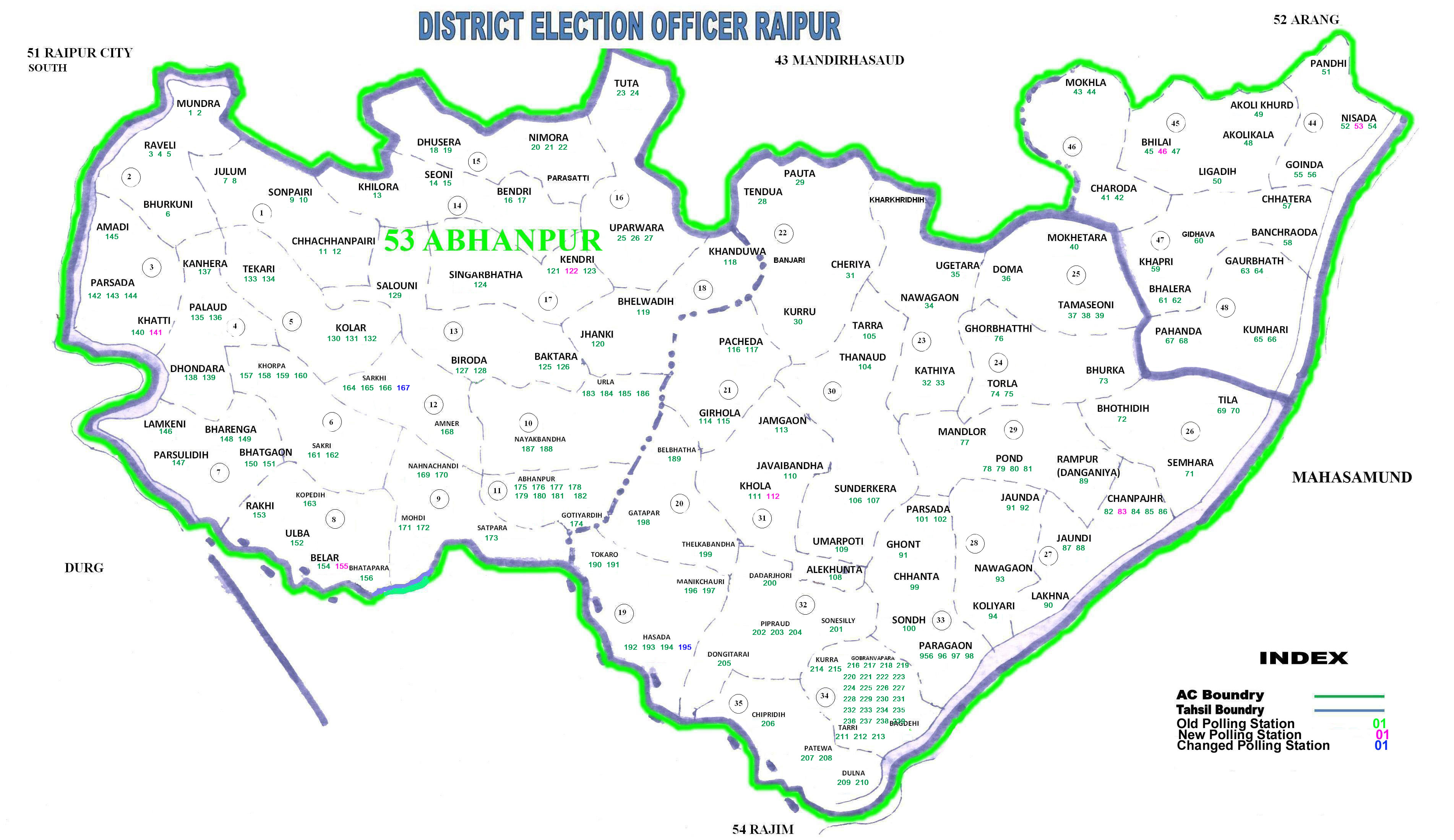 Assembly Constituency Map | Welcome to Raipur District | India