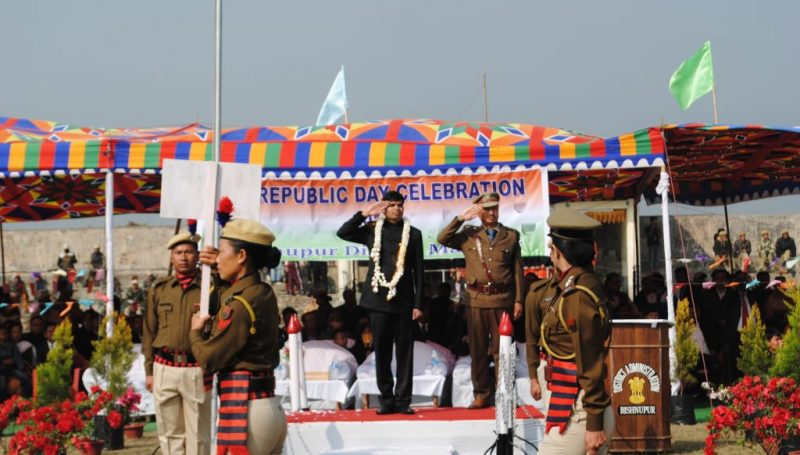 DC at the saluting base on Republic Day 2018