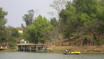 Boating at Loukoipat Bishnupur