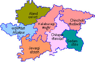 Map of Kalaburagi District