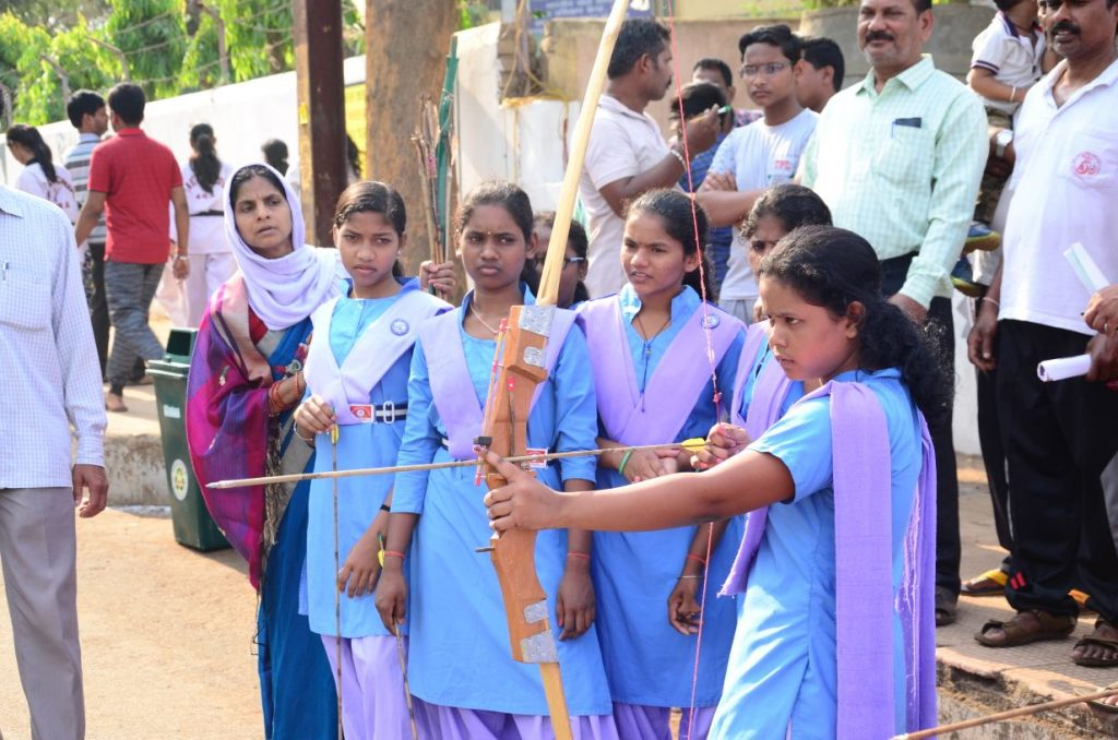 Archery Competition among girls