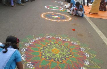Rangoli by School students