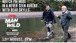 Modi and Bear Grylls