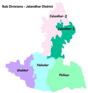 Sub Divisions of District Jalandhar
