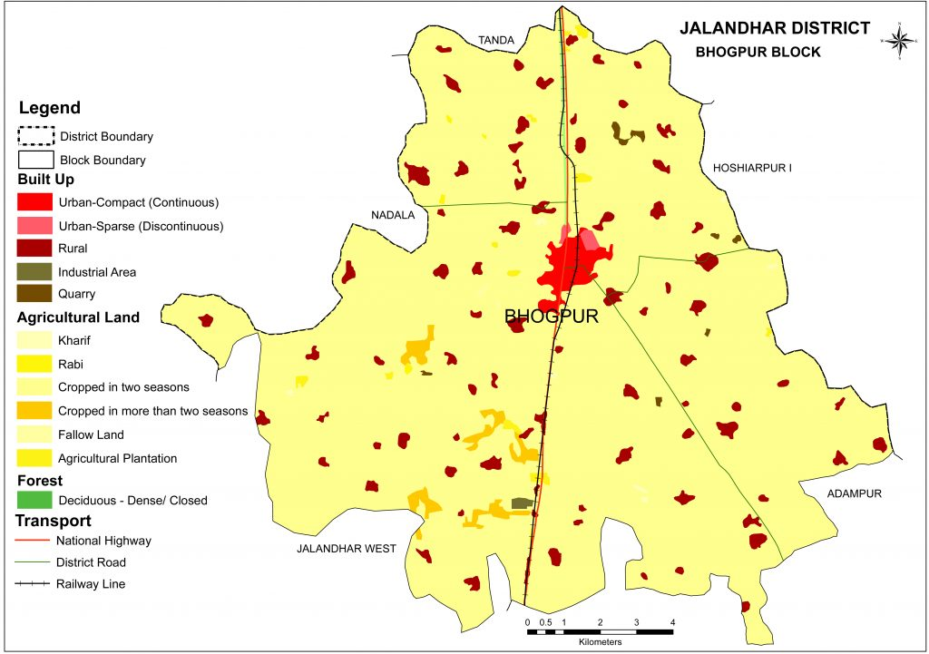 Bhogpur Block MAP