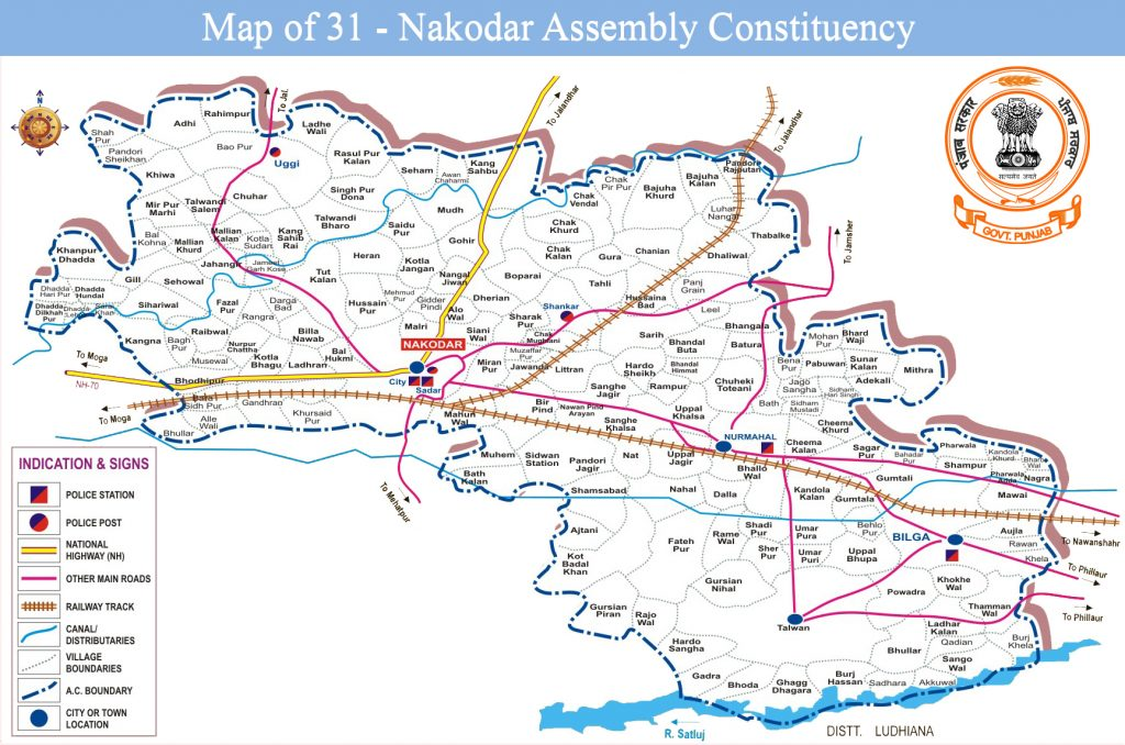 Map of Nakodar Assembly Constituency