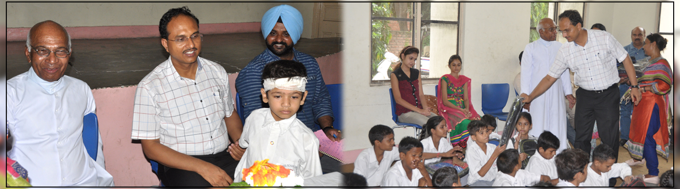 DC Jalandhar Donated Books at Deaf and Dumb School