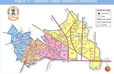 Map of Jalandhar Central Assembly Constituency