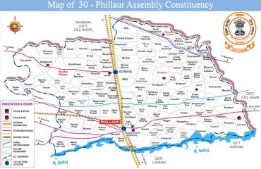 Map of Phillaur Assembly Constituency