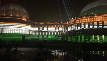 Laser and Light Show at Jung-e-Azadi