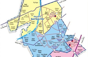 Map of Jalandhar West Assembly Constituency