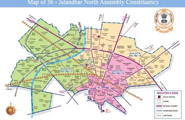 Map of Jalandhar North Assembly Constituency