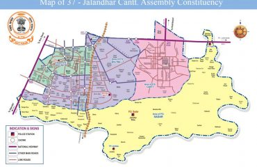 Map of Jalandhar Cantt Assembly Constituency