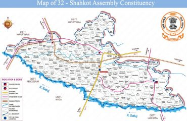 Map of Shahkot Assembly Constituency