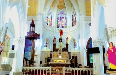 Inside St Philomena's Church