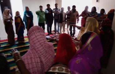 SHGs members and cadres are taking Oath for casting there vote during parliamentary elections 2019 at Aakhangano Panchayat SANDESH block