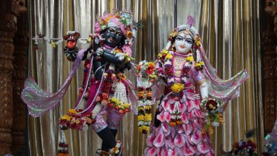 Diety darshan at Iskcon Noida