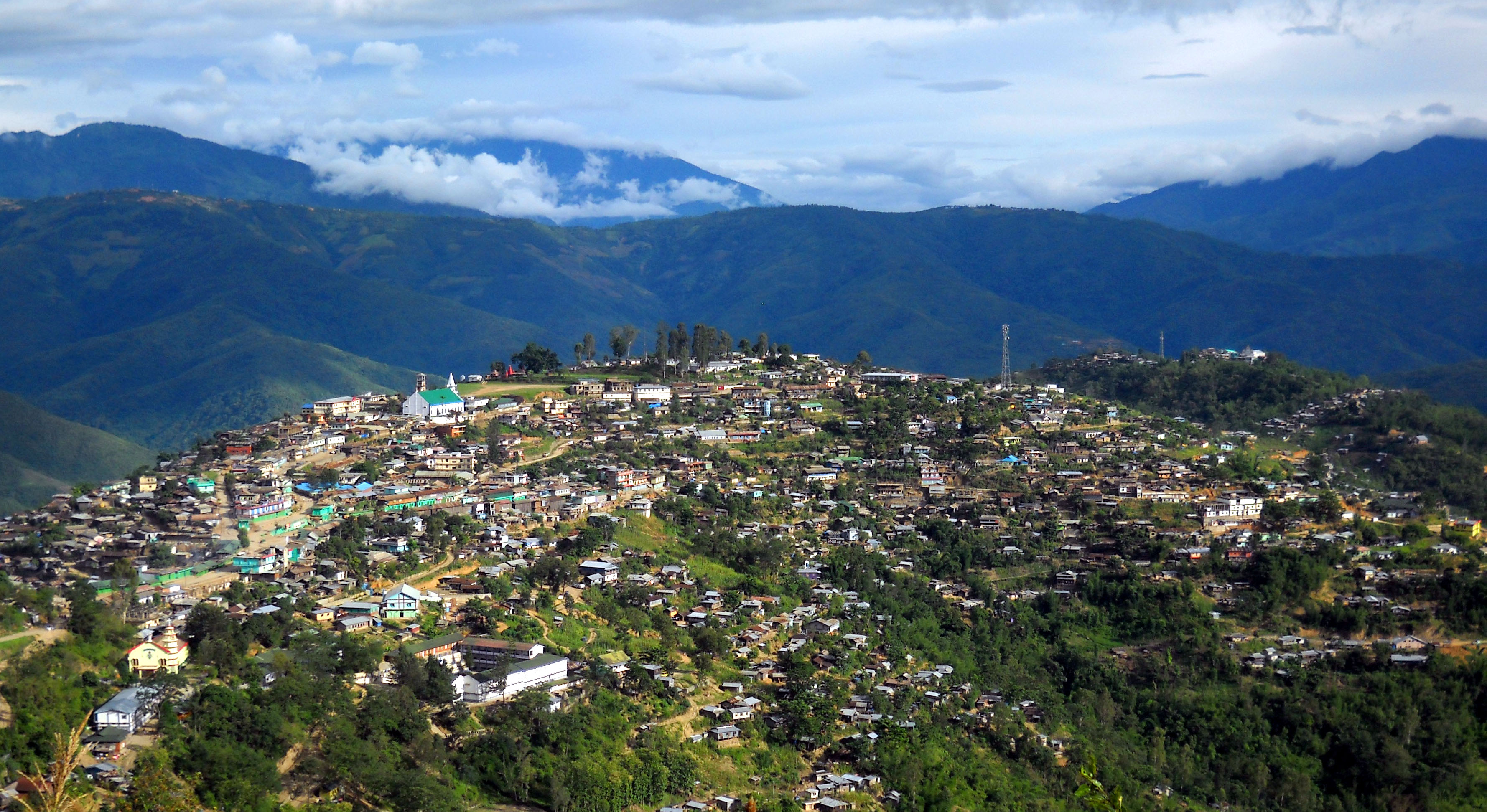 Aerial View of Kiphire District