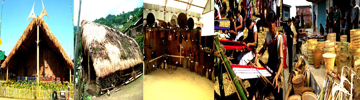 Traditional huts and artisans