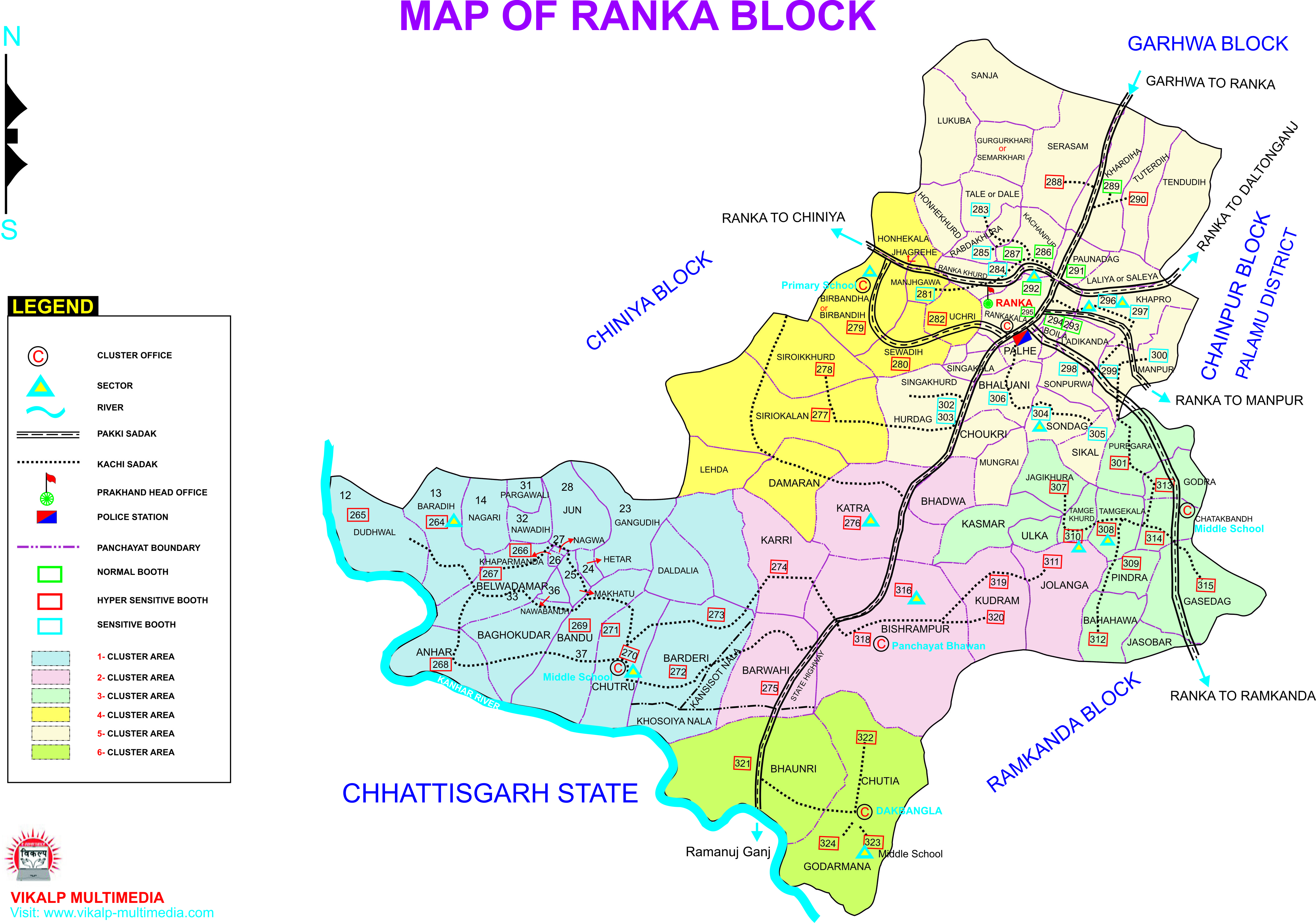 map of district district garhwa government of jharkhand