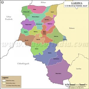garhwa district map