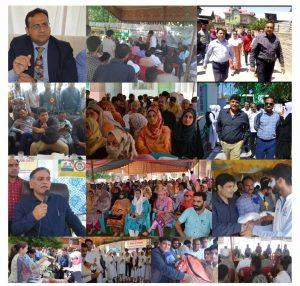 "Budgam, June 27: Evoking massive people's participation, the ambitious government programme, ""Back to Village"" concluded today across the 296 Panchayat blocks of district Budgam. In Budgam Saurabh Bhagat, Sarmad Hafeez, Ravinder Kumar, Harun Malik among visiting officers."