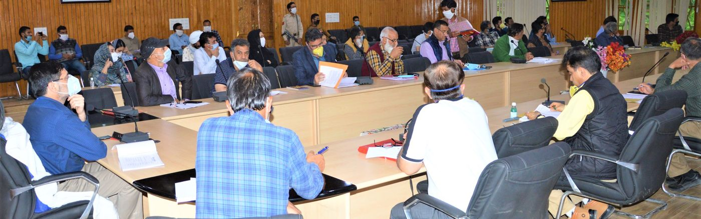 DC Budgam convenes introductory cum review meeting with officers.