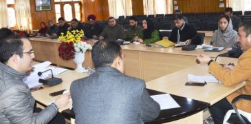 DDC Budgam reviews progress of Languishing Projects, implementation of various schemes