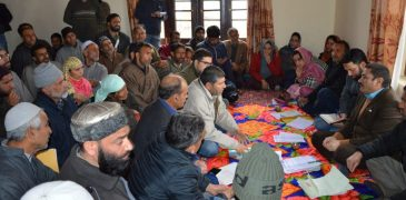 DDC Budgam holds Public Darbar at Char-i-Sharief Stresses on wall construction to prevent landslides in vulnerable areas to protect life and property