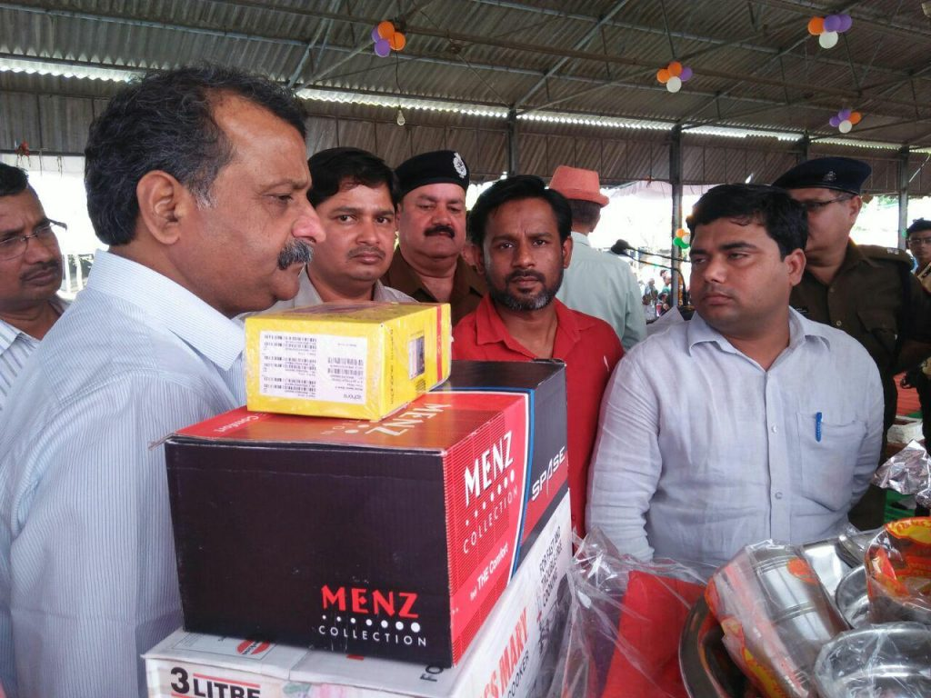 Gift Distribution By District Magistrate -