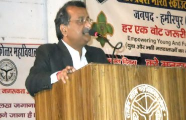 District Magistrate Speech on National Voters Day